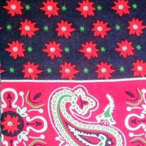 """HOT"" Red paisley Bandanna"
